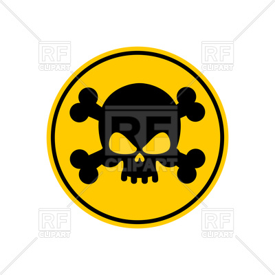 400x400 Danger Poison Yellow Sign Royalty Free Vector Clip Art Image