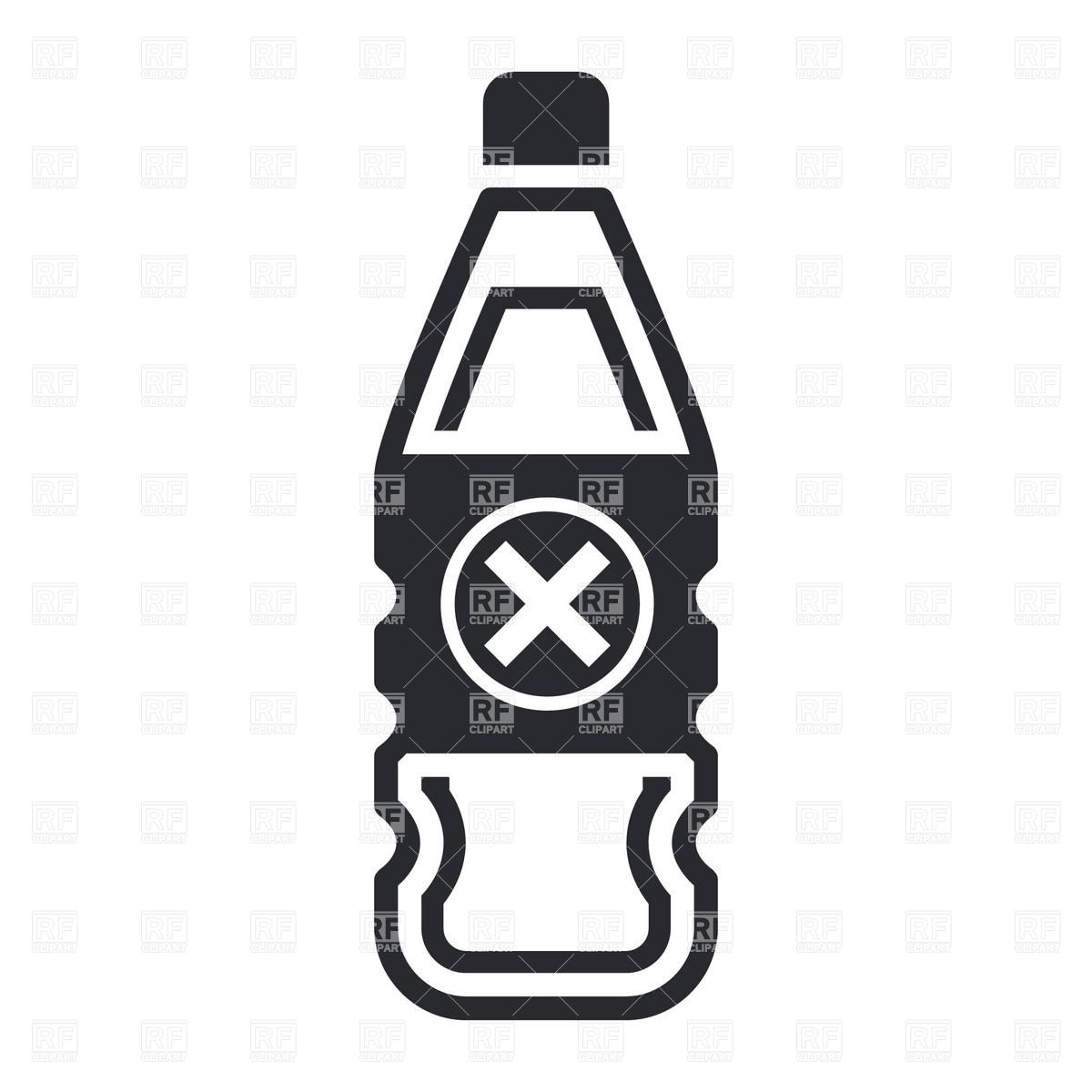 1200x1200 Icon Of Plastic Bottle With Poison Or Dangerous Liquid Royalty