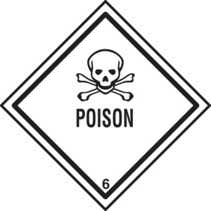 300x300 Poison Warning Clip Art