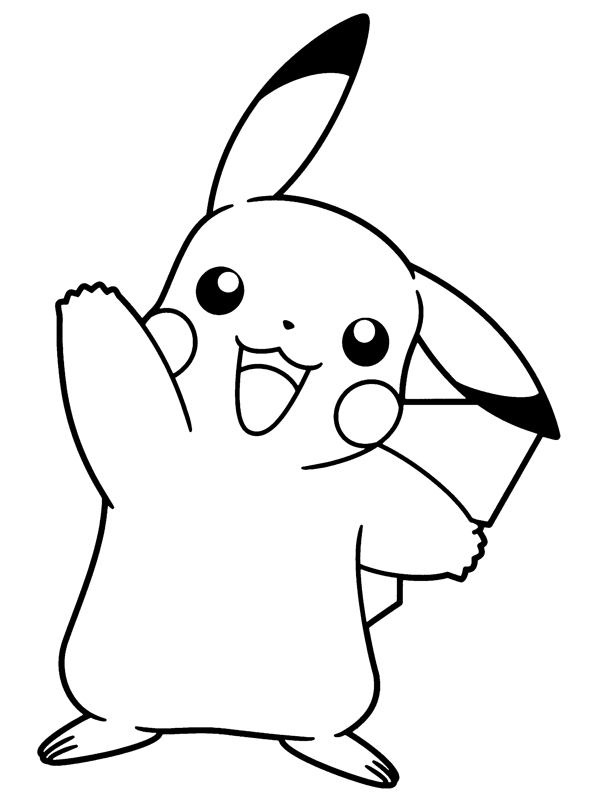 Pokemon Clipart Black And White Free Download Best