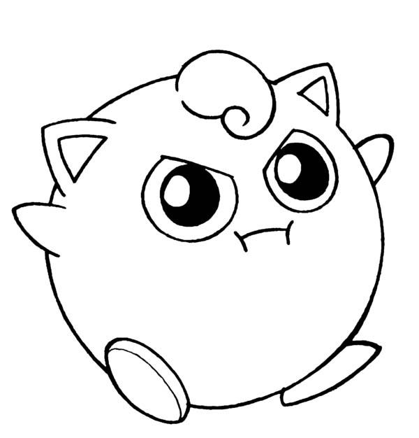 600x626 Amazing Pokemon Jigglypuff Coloring Page