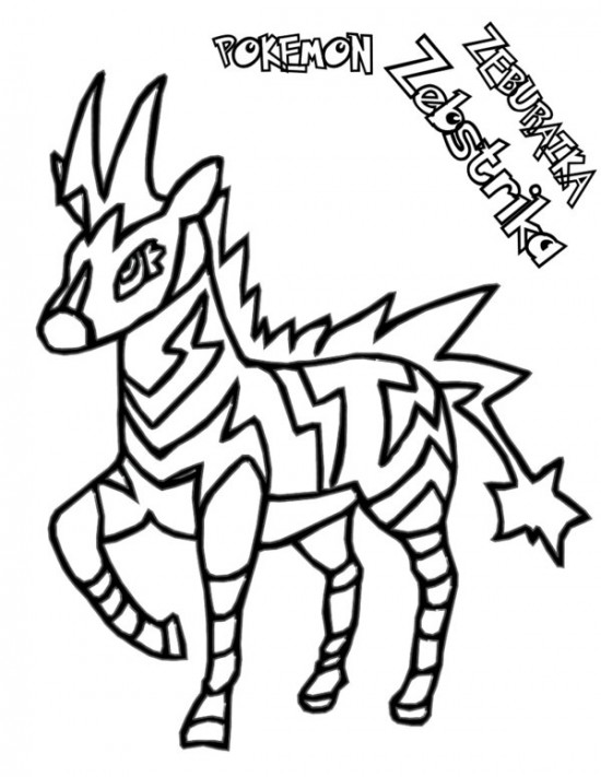550x711 Pokemon Zebstrika Coloring Pages Pokemon Coloring Pages