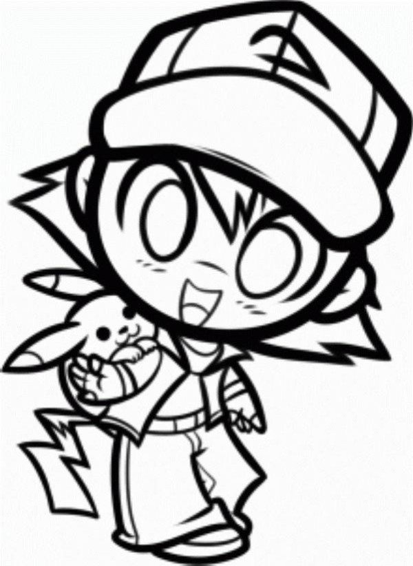 Ash ketchum coloring pages the best coloring page 2017