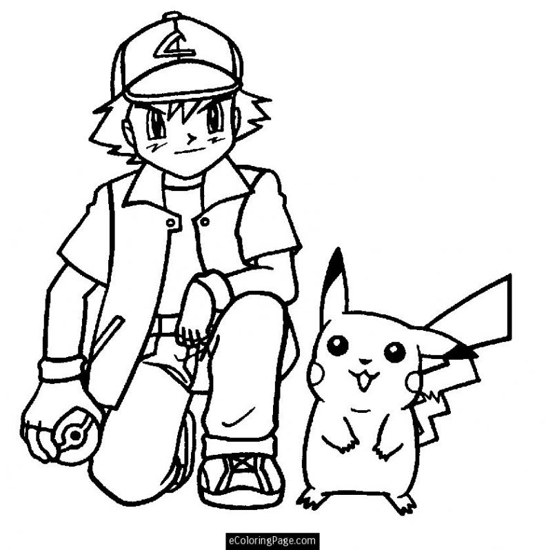 792x798 Coloring Page Cute Pokemon Coloring Pages Ash Page Pokemon