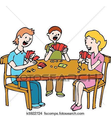 450x470 Clipart Of People Playing Poker Card Game K5922724