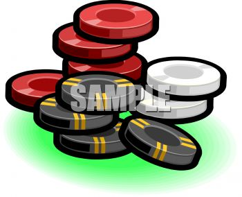 350x284 Poker Chips Clip Art