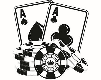 340x270 Poker Clipart Black And White