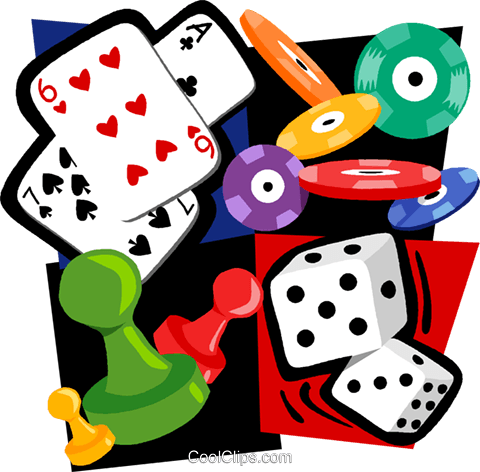 480x472 Gambling Motif, Cards, Poker Chips, Dice Royalty Free Vector Clip