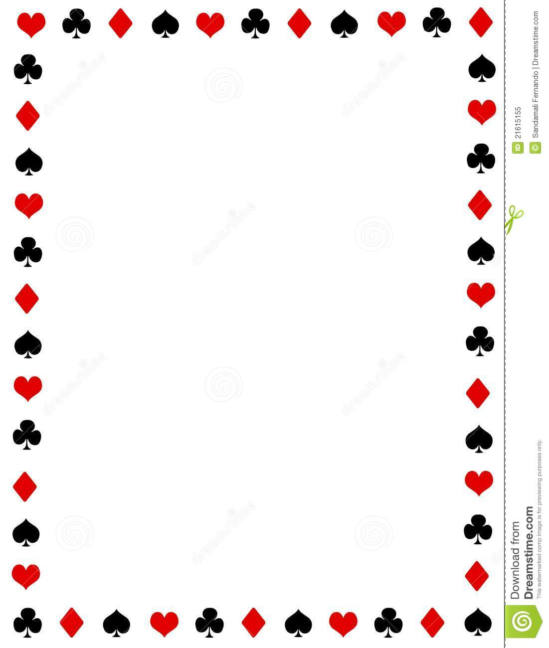 1101x1300 Playing Card Images Free Poker Border Frame Royalty Free Stock