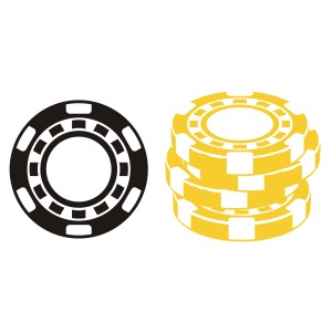 300x300 Poker Chips Clipart