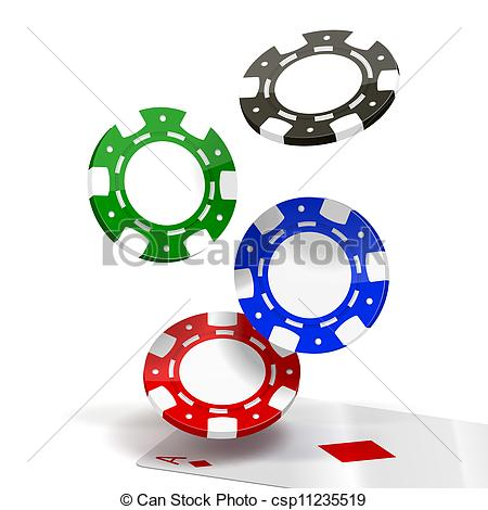 450x470 Poker Chips Clipart