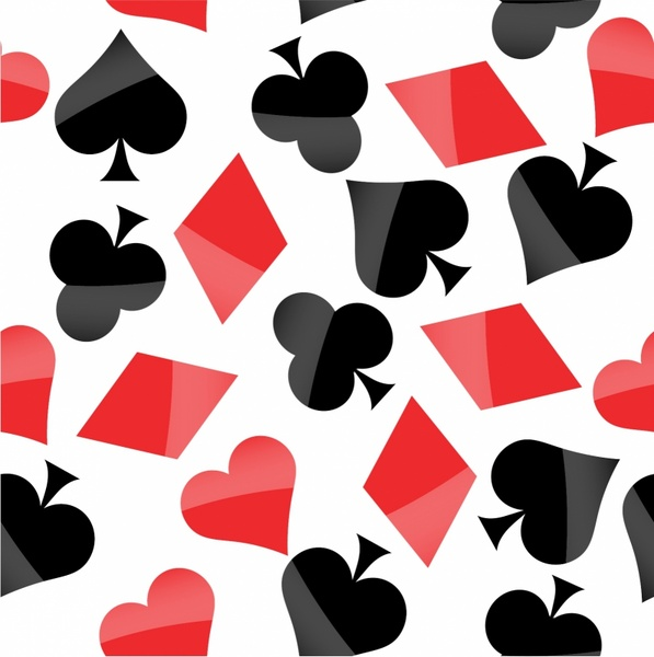 597x600 Poker Signs Seamless Pattern Free Vector In Adobe Illustrator Ai