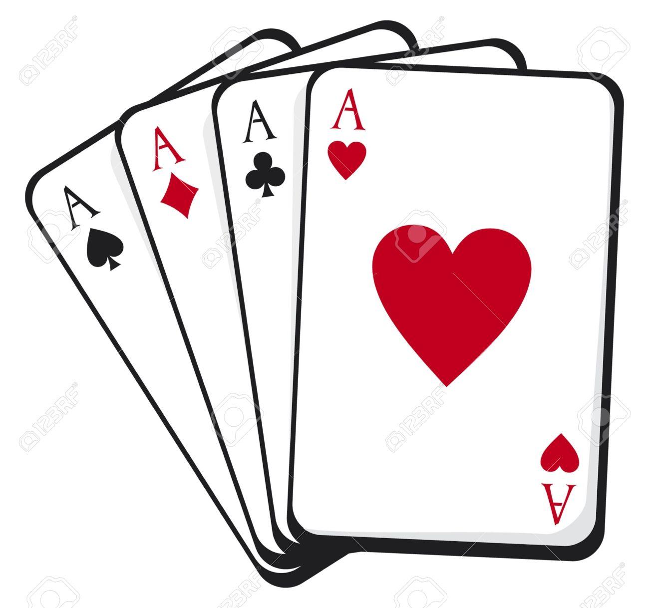 1300x1218 Poker Clipart Aces