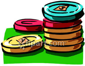 300x234 Of Different Denominations Poker Chips Royalty Free Clipart Picture