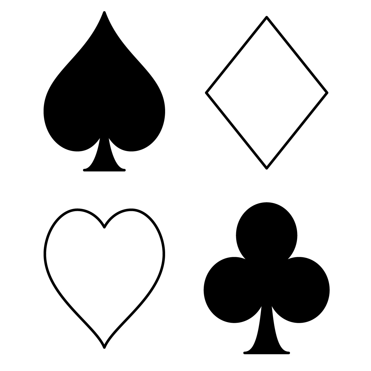 1200x1200 Deck Clipart Poker Card