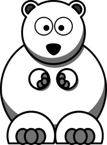 222x300 Polar Bear Clip Art