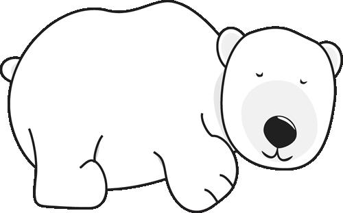 500x311 Polar Bear Sleeping Clip Art