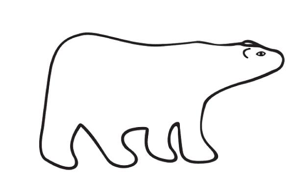 606x356 Polar Bear Clip Art Black And White Free Clipart 10