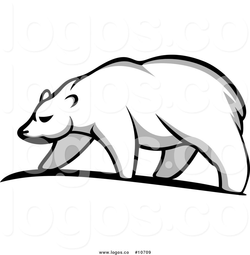1024x1044 Royalty Free Clip Art Vector Walking Polar Bear Logo By Vector