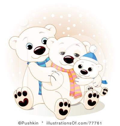 400x420 Clip Art Christmas Polar Bear Clipart