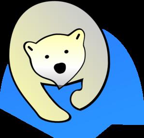 298x285 Polar Bear Clip Art