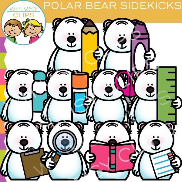 600x600 Polar Bear Sidekicks Clip Art , Images Amp Illustrations Whimsy Clips