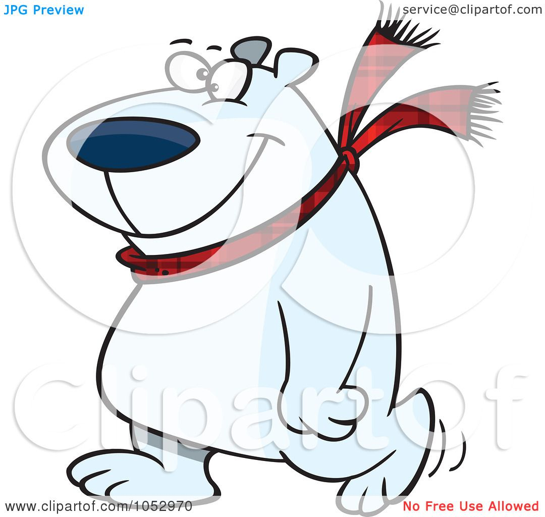 1080x1024 Royalty Free Vector Clip Art Illustration Of A Cartoon Happy Polar