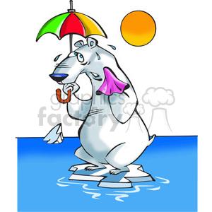300x300 Royalty Free Polar Bear Sweating 388514 Vector Clip Art Image