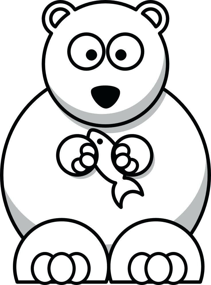 736x993 Cartoon Polar Bear Coloring Pages Library Pictures Of Bears Free