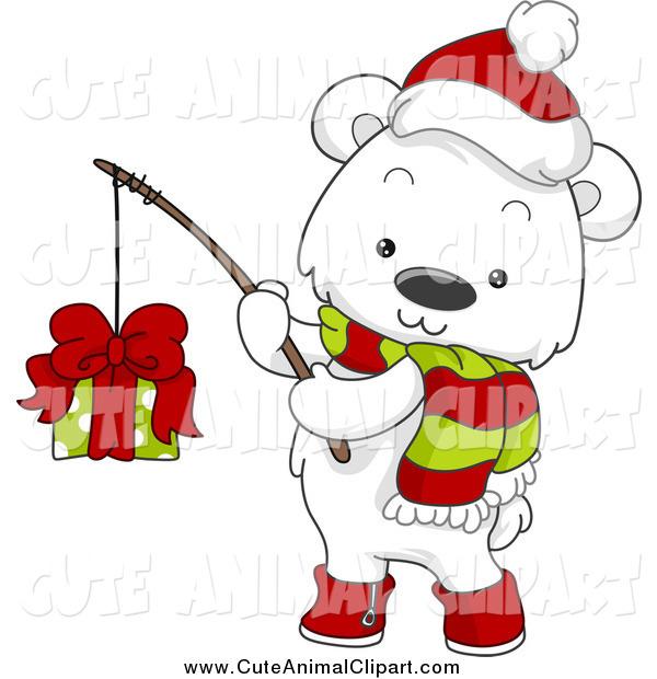 600x620 Clip Art Christmas Polar Bear Clipart