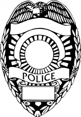 280x407 Police Badge Clipart Black And White Letters Example