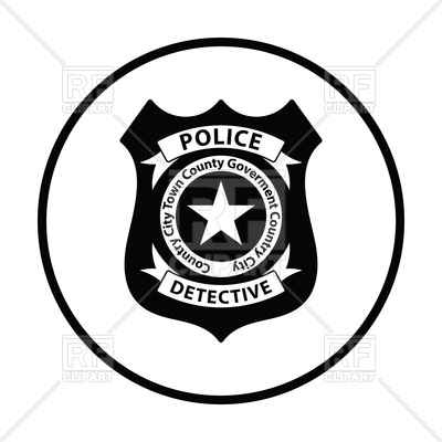 400x400 Police Badge Icon Vector Clipart Image