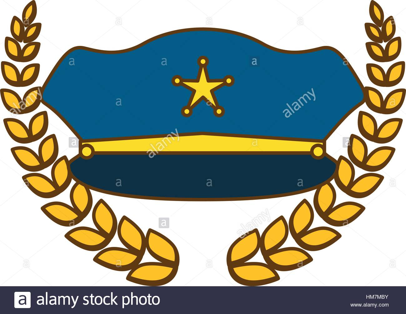 1300x1006 Gold Police Badge Icon Image, Vector Illustration Stock Vector Art
