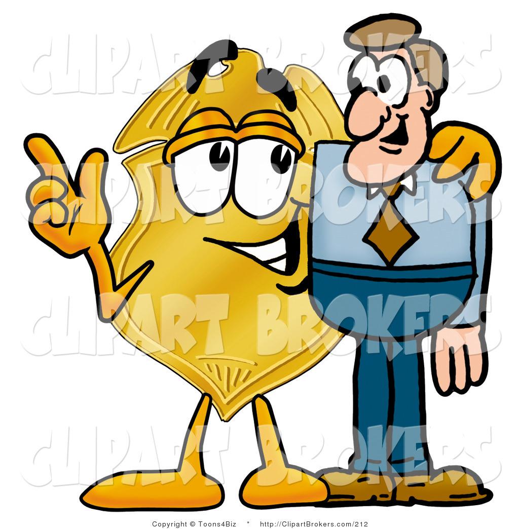 1024x1044 Clip Art Cartoon Of A Golden Police Badge Mascot Cartoon Character