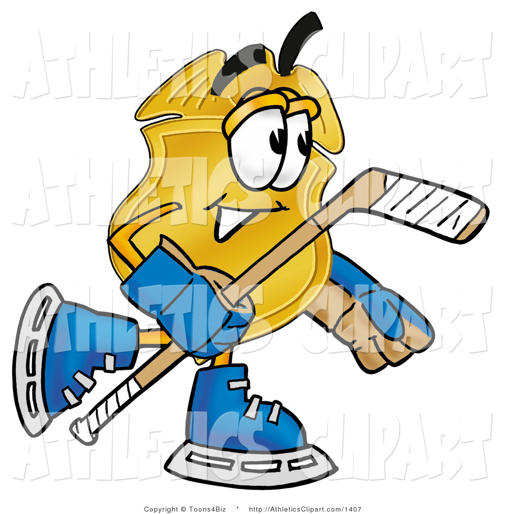 1024x1044 Clip Art Of A Gold Police Badge Mascot Cartoon Character Playing
