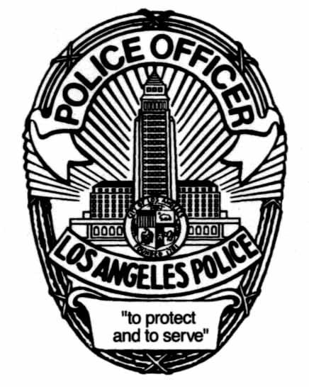 436x546 Lapd Police Badge Typography