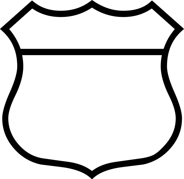 600x584 Police Badge Black And White Clipart