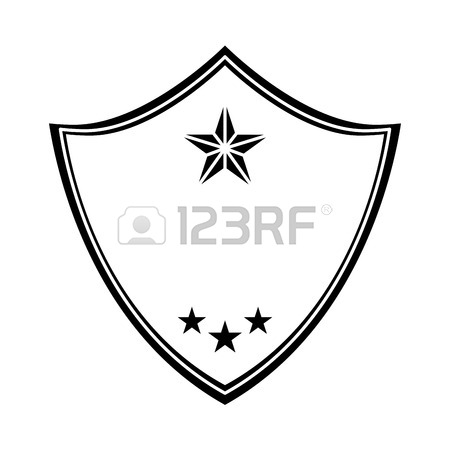 450x450 Police Emblem Two Tone Button Icon Image Vector Illustration