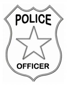 235x300 Police Officer Badge Applique