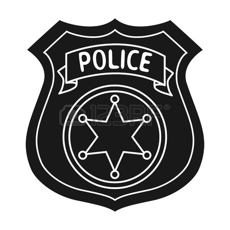 450x450 Police Officer Badge Icon In Black Style Isolated On White