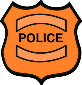 288x300 Police Badge Clipart Black And White Clipart Image