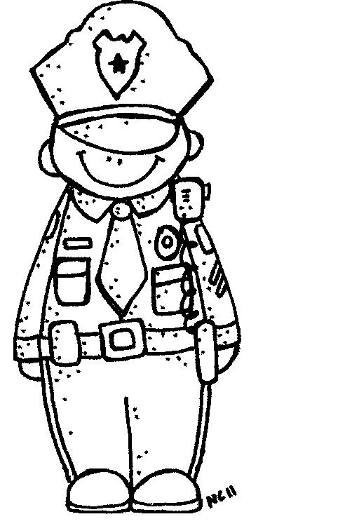 512x750 Police Clipart Black And White