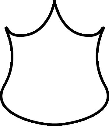 358x415 Black And White Police Badge Clip Art