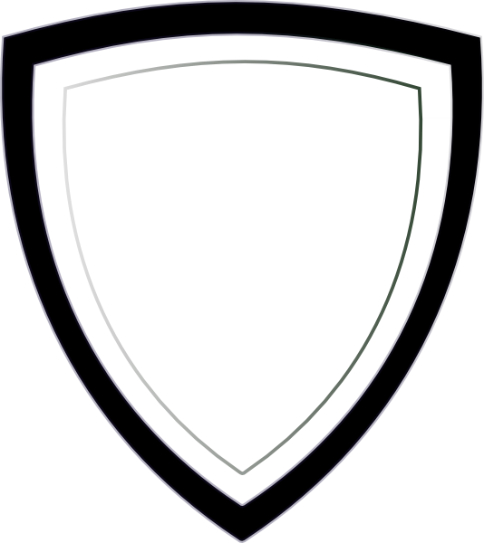 534x600 Security Badge Black And White Clipart