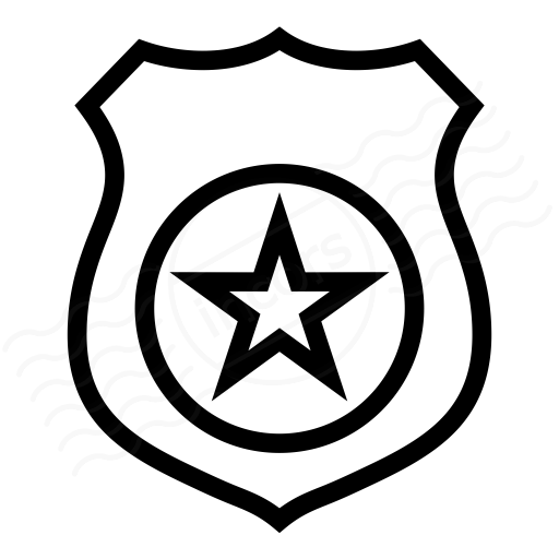 512x512 Security Badge Black And White Clipart