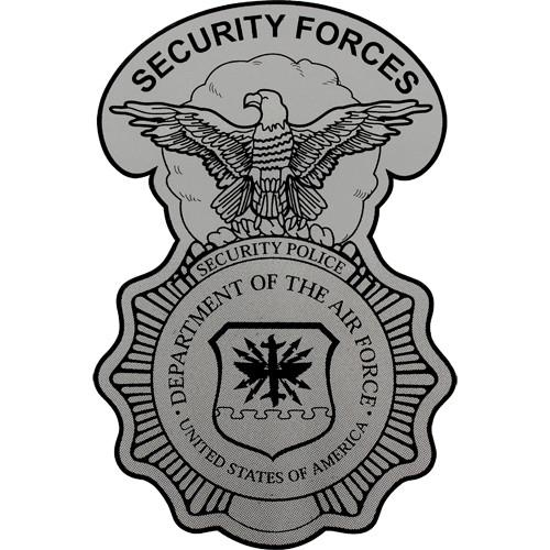 500x500 Security Police Badge Clear Decal Usamm