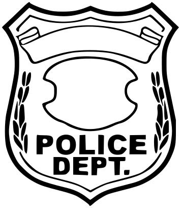 356x408 Police Badge Blank