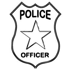 Police Badge Black And White | Free download best Police ...