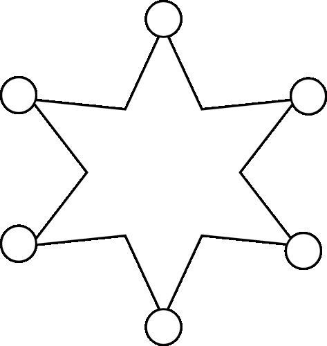 473x500 Black And White Sheriff Badge Clip Art