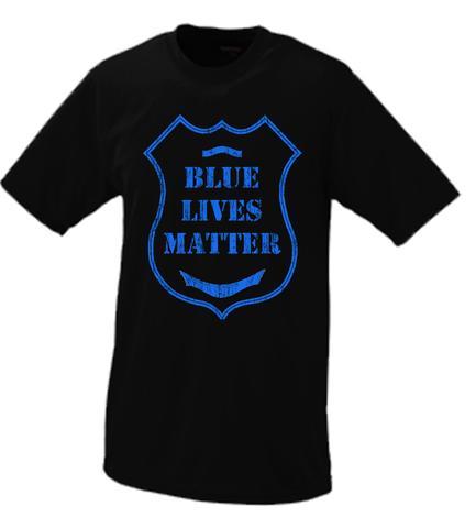 433x480 Blue Lives Matter Police Badge Shirt Black, White, Blue All Lives